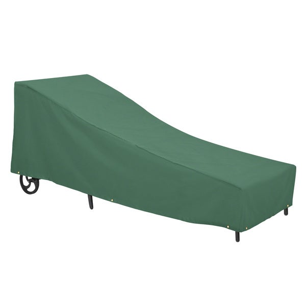 Classic accessories atrium large green patio chaise lounge for Chaise lounge accessories