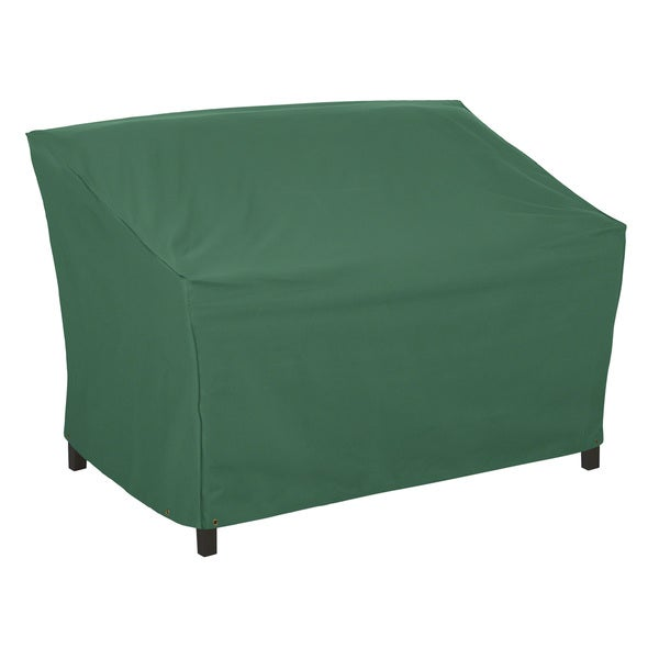 Classic Accessories Atrium 55 inch Green Patio Loveseat Sofa Cover Oversto