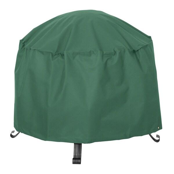 Classic Accessories Atrium Green 34-inch Round Patio Firepit Cover