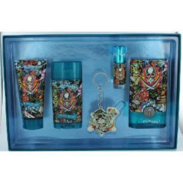 Ed Hardy's Hearts & Daggers 4-piece Gift Set with Key Chain