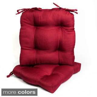 Tufted U-shaped Super Plush Tie Back Chair Cushion (Set of 2 or 4)