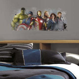 Roommates Avengers Age of Ultron Distressed Peel and Stick Giant Wall Graphix