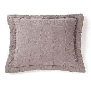 Dana Grey Cotton Paisley Sham