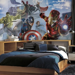 Roommates Avengers Age of Ultron Character XL Chair Rail Prepasted Mural