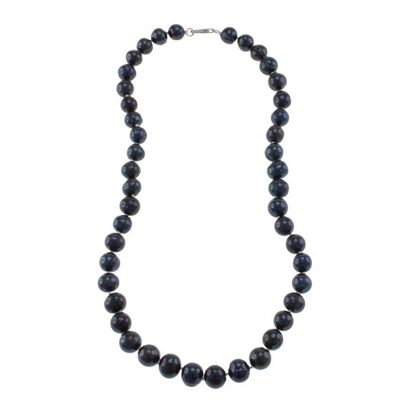 Black Freshwater Pearl Necklace (9-10 mm)