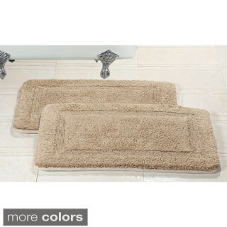 Elegance Spa 20x32-inch Memory Foam Cotton Bath Rug (Set of 2)