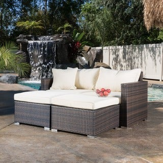 Christopher Knight Home Granada 2-piece Wicker Chaise Sectional with Cushions