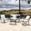 Christopher Knight Home San Ramon Outdoor 4-piece Sofa Set with Cushions