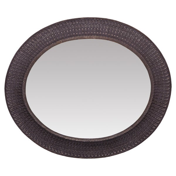 The Somette Antique Gold Oval Mirror