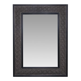 Somette Two-Tone Aged Bronze Frame Mirror
