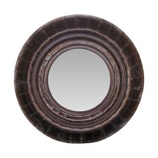 Somette Round Weathered Mirror