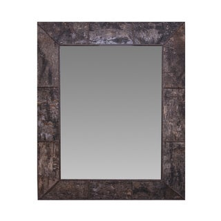 Somette Wood Bark Veneer Mirror