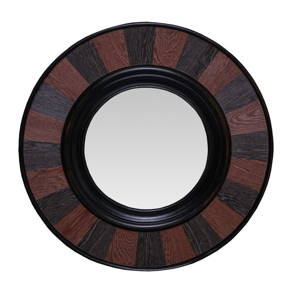 Somette Round Two-Toned Chesnut Mirror