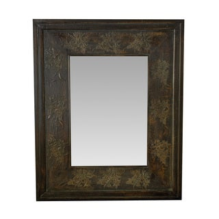 Somette Traditional Carved Floral Mirror