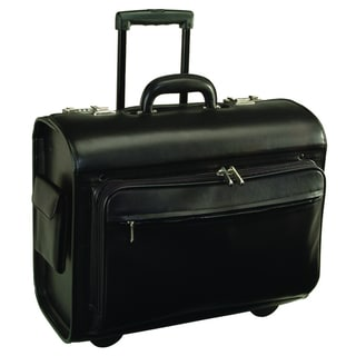 Royce Leather Genuine Leather Executive Rolling 15-inch Laptop Briefcase