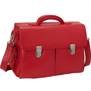 Royce Leather Cosmopolitan Genuine Leather 14-inch Laptop Briefcase