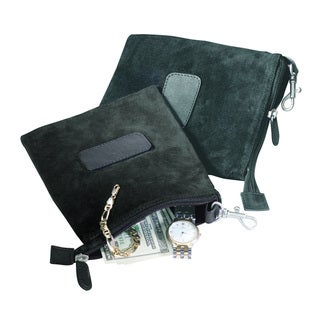 Royce Leather Rich Luxury Suede Valuables Pouch