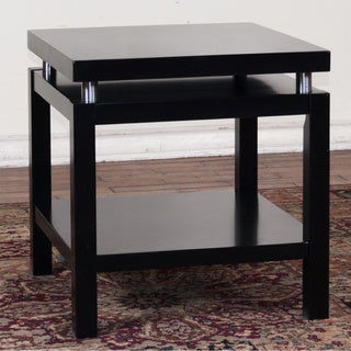Sunny Designs New York Black Chrome Accent End Table