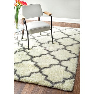 nuLOOM Moroccan Trellis Soft and Plush Shag Rug (10'6 x 14')