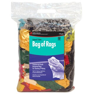 Poly Bag of 4 Colored Rags