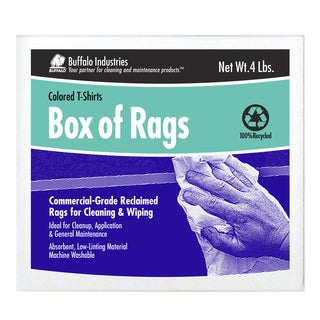 Box of 4 Colored Rags