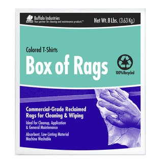 Buffalo Industries 10087 Box of 8 Colored Rags