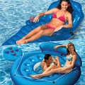Poolmaster French Pocket Island and Adjustable Chaise Combo