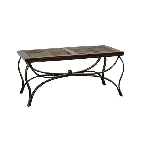 Sunny Designs Santa Fe Birch Wood Coffee Table With Metal Base 17236239