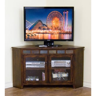 Sunny Designs Santa Fe Birch Wood Corner TV Console