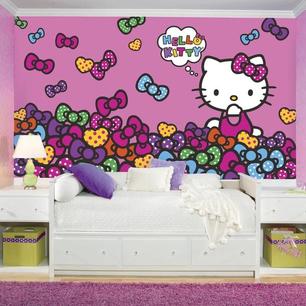 Roommates Hello Kitty Bow-tastic XL Chair Rail Prepasted Mural 15290771