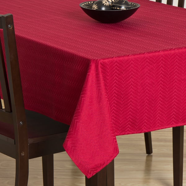 Infinity Cranberry Tablecloth