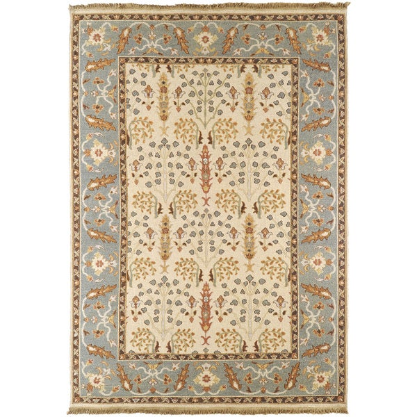 Hand-Knotted Torquay New Zealand Wool Rug (4' x 6')