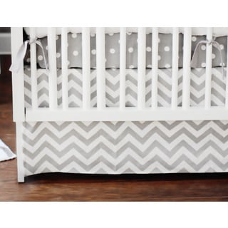 New Arrivals 2-piece Zig Zag Baby Crib Bedding Set