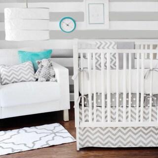 New Arrivals 3-piece Zig Zag Baby Crib Bedding Set