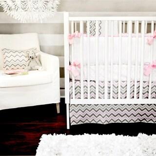 New Arrivals 3-piece Peace Love Pink Crib Bedding Set