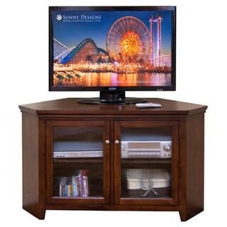 Sunny Designs Cappuccino Corner TV Console