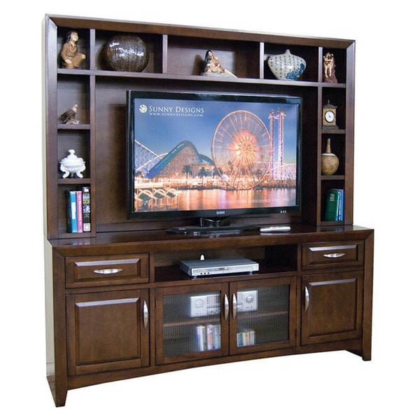 Sunny Designs Cappuccino Hutch and TV Console 15290934