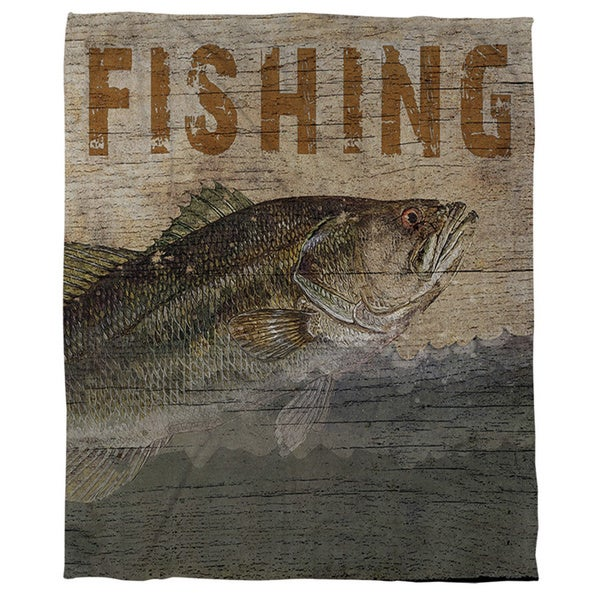 Thumbprintz Fishing Coral Fleece Throw