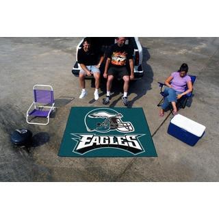 Fanmats Machine-Made Philadelphia Eagles Teal Nylon Tailgater Mat (5' x 6')