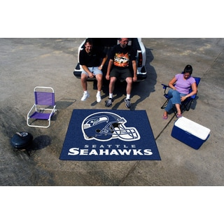 Fanmats Machine-Made Seattle Seahawks Blue Nylon Tailgater Mat (5' x 6')
