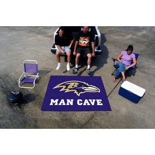 Fanmats Machine-Made Baltimore Ravens Purple Nylon Man Cave Tailgater Mat (5' x 6')