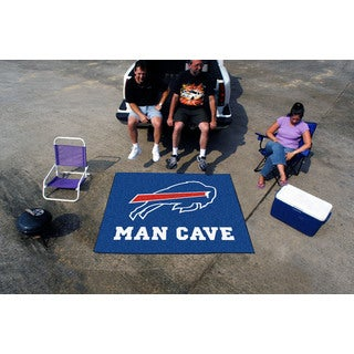 Fanmats Machine-Made Buffalo Bills Blue Nylon Man Cave Tailgater Mat (5' x 6')