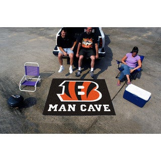 Fanmats Machine-Made Cincinnati Bengals Black Nylon Man Cave Tailgater Mat (5' x 6')