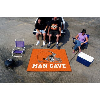 Fanmats Machine-Made Cleveland Browns Orange Nylon Man Cave Tailgater Mat (5' x 6')