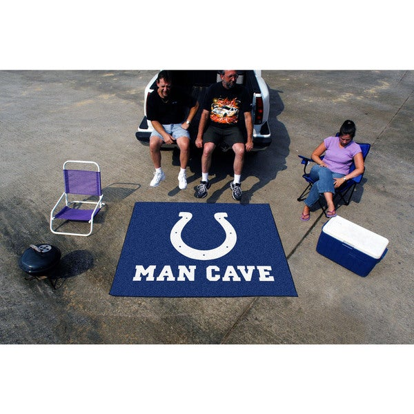 Fanmats Machine-Made Indianapolis Colts Blue Nylon Man Cave Tailgater Mat (5' x 6')