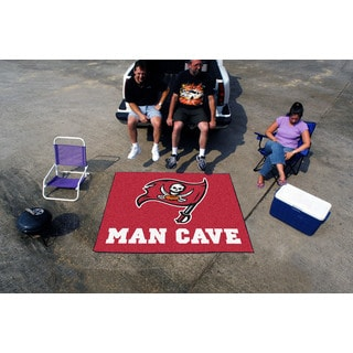 Fanmats Machine-Made Tampa Bay Buccaneers Red Nylon Man Cave Tailgater Mat (5' x 6')