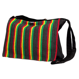 Rasta Stripe Messenger Bag (Nepal)