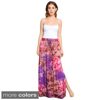 Tie-Dye Maxi Skirt With Side Slits (Nepal)