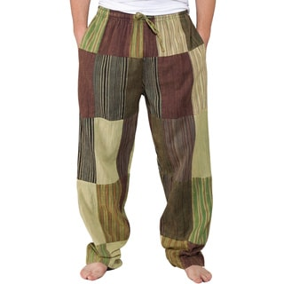 Men's Recycled Patchwork Lounge Pants (Nepal)
