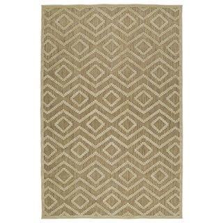 Indoor/Outdoor Luka Khaki Diamond Rug (5'0 x 7'6)